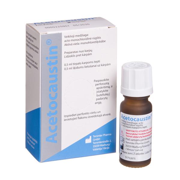 ACETOCAUSTIN, skystis karpoms gydyti, 0,5 ml  paveikslėlis