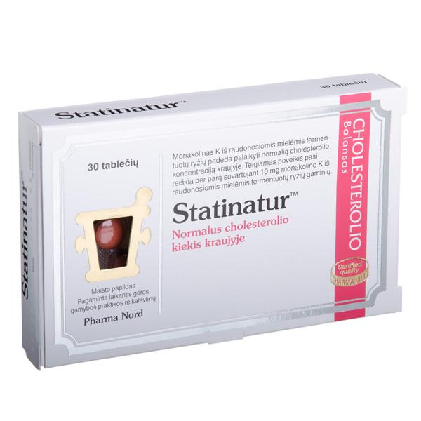 PHARMA NORD STATINATUR, 30 tablečių paveikslėlis