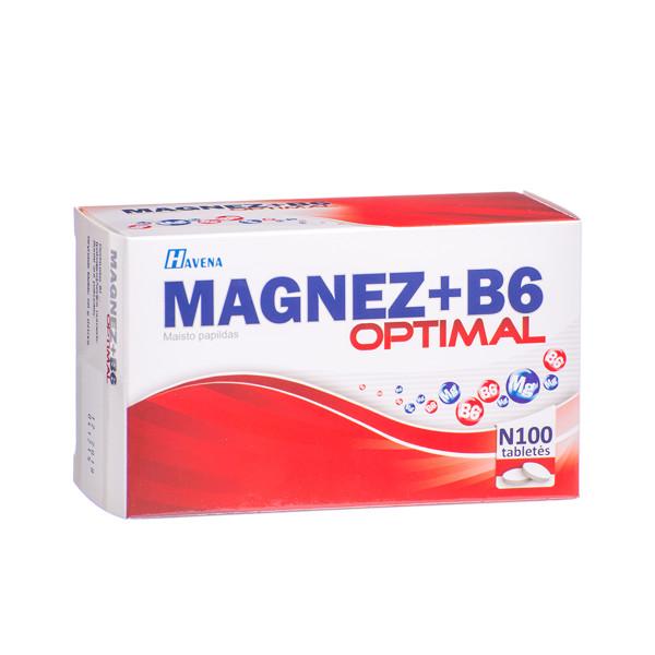 HAVENA MAGNEZ + B6 OPTIMAL, 100 tablečių paveikslėlis