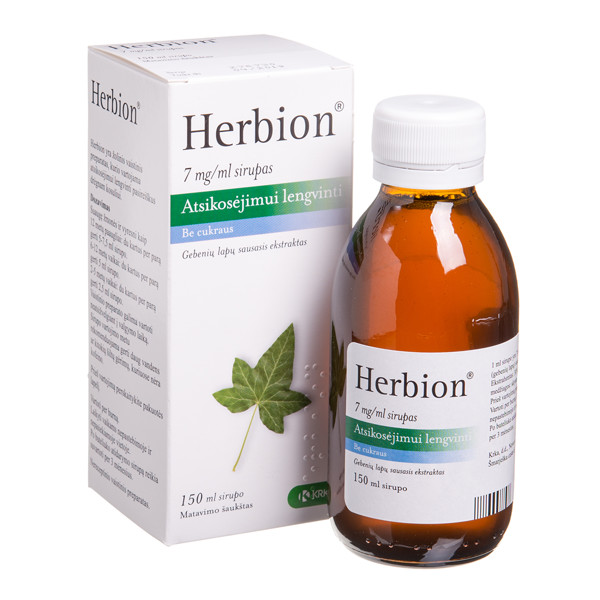HERBION, 7 mg/ml, sirupas, 150 ml, N1  paveikslėlis