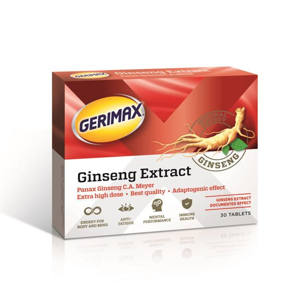 GERIMAX GINSENG, 30 tablečių paveikslėlis