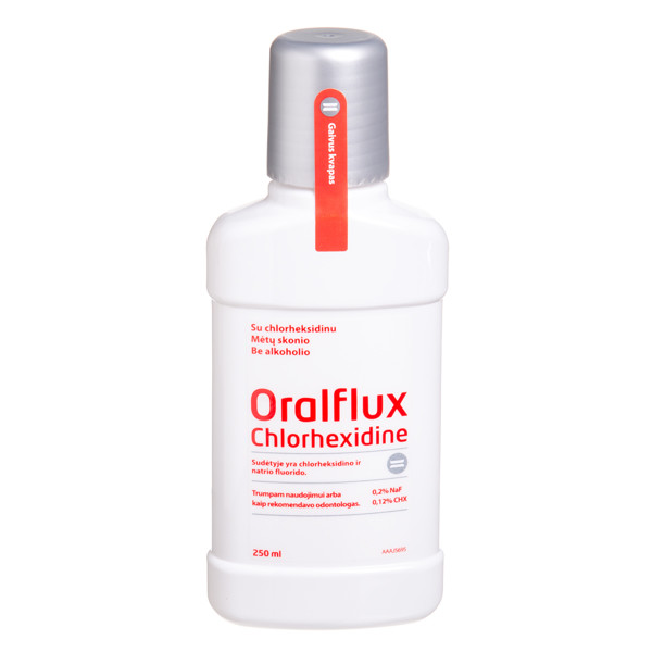 ORALFLUX CHLORHEXIDINE, burnos skystis, 250 ml paveikslėlis