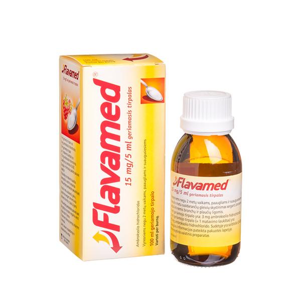 FLAVAMED, 15 mg/5 ml, geriamasis tirpalas, 100 ml  paveikslėlis