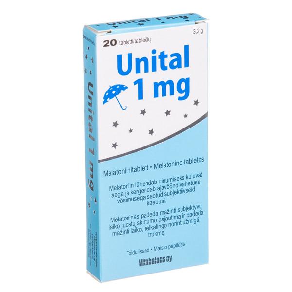 UNITAL, 1 mg, 20 tablečių paveikslėlis