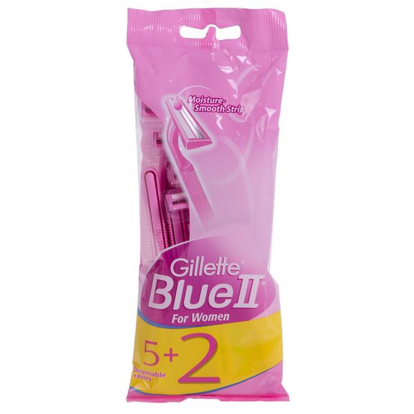 GILLETTE BLUE 2 FOR WOMEN, vienkartiniai skustuvai moterims, 7 vnt. paveikslėlis