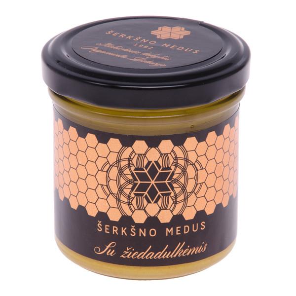 ŠERKŠNO MEDUS, medus su žiedadulkėmis, 200 g  paveikslėlis