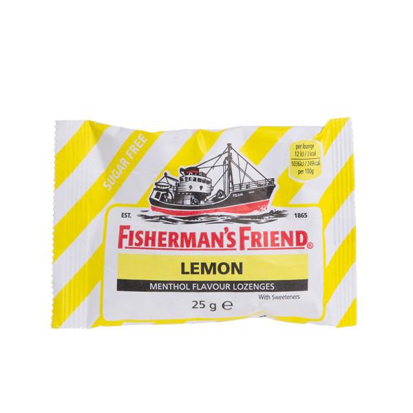 FISHERMAN'S FRIEND, becukrės, citrinos skonio, pastilės, 25 g paveikslėlis
