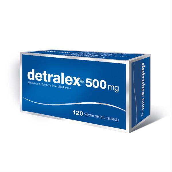 DETRALEX, 500 mg, plėvele dengtos tabletės, N120  paveikslėlis