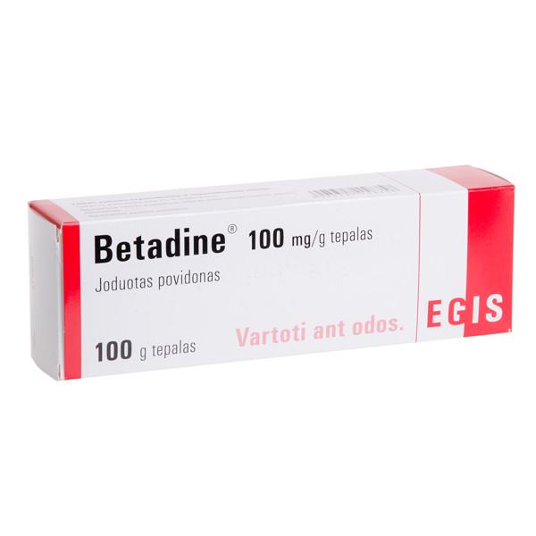 BETADINE, 100 mg/g, tepalas, 100 g paveikslėlis