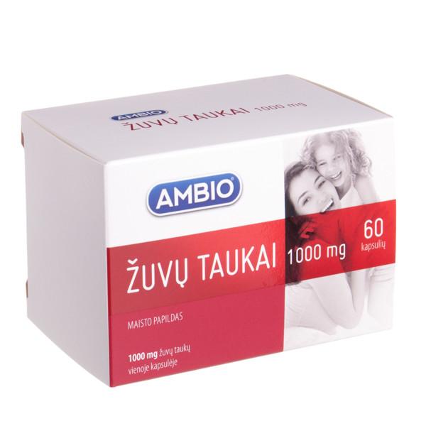 AMBIO ŽUVŲ TAUKAI, 1000 mg, 60 kapsulių paveikslėlis