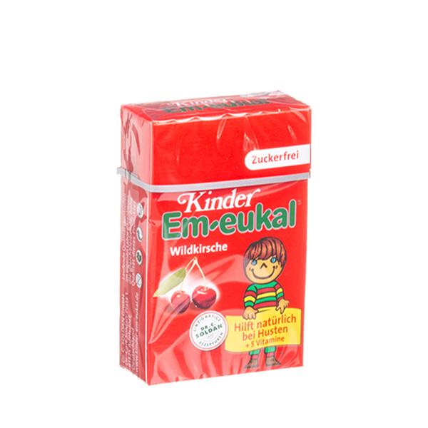 EM-EUKAL, pastilės vaikams su vyšnių sultimis ir 5 vitaminais, 40 g paveikslėlis