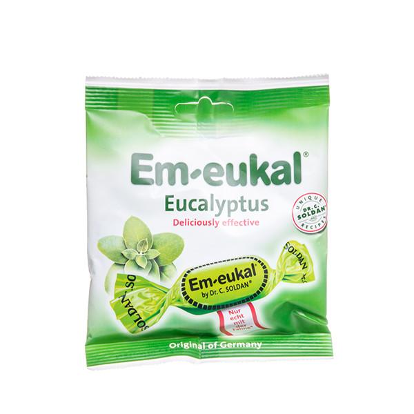EM-EUKAL, pastilės, klasikinės su eukalipto aliejumi, 50 g paveikslėlis