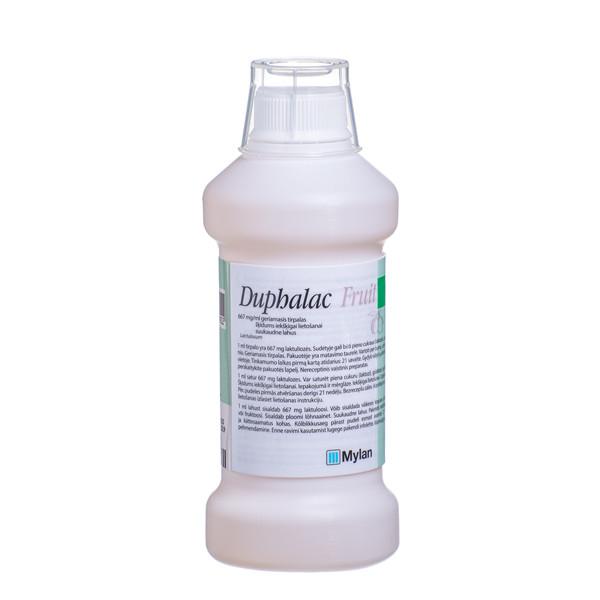 DUPHALAC FRUIT, 667 mg/ml, geriamasis tirpalas, 500 ml  paveikslėlis