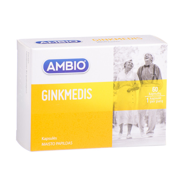AMBIO GINKMEDIS, 60 kapsulių paveikslėlis