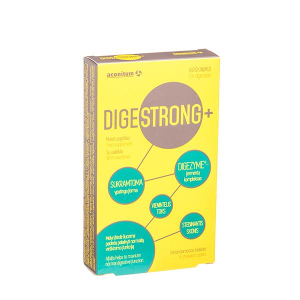 DIGESTRONG+, 6 kramtomosios tabletės paveikslėlis