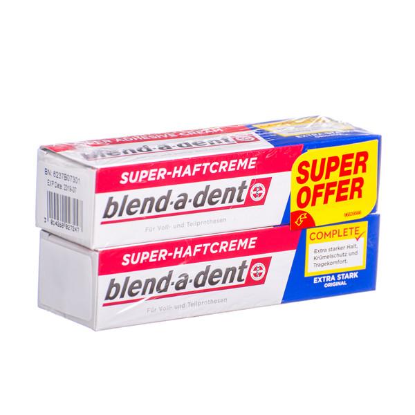 BLEND-A-DENT REGULAR, burnos dantų protezų lipnus kremas, 47 g, 2 vnt.  paveikslėlis