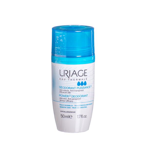 URIAGE POWER 3, dezodorantas-antiperspirantas, rutulinis, 50 ml paveikslėlis