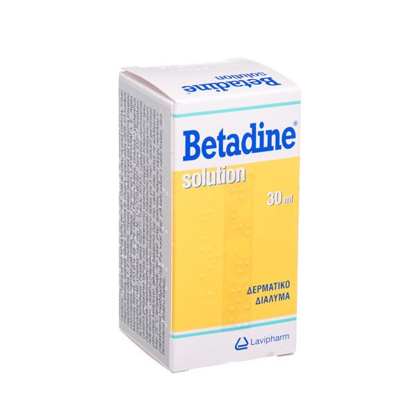 BETADINE, 100 mg/ml, odos tirpalas, (l.imp.), 30 ml  paveikslėlis