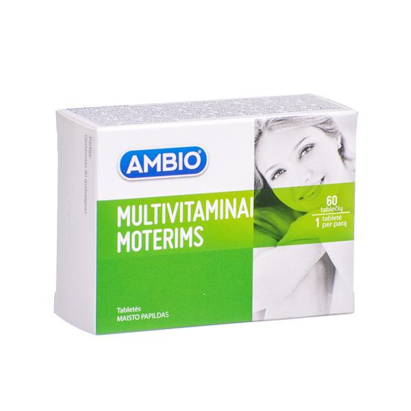 AMBIO MULTIVITAMINAI MOTERIMS, 60 tablečių paveikslėlis