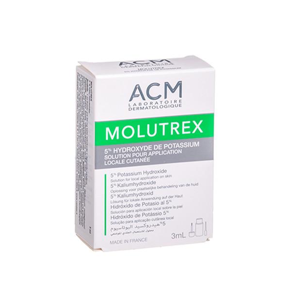 ACM MOLUTREX 5%, odos tirpalas, 3 ml paveikslėlis