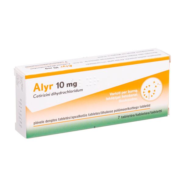 ALYR, 10 mg, plėvele dengtos tabletės, N7  paveikslėlis