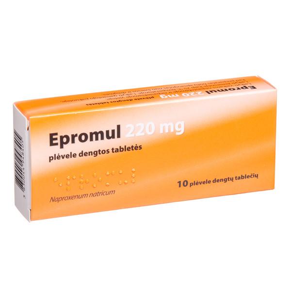 EPROMUL, 220 mg, plėvele dengtos tabletės, N10  paveikslėlis