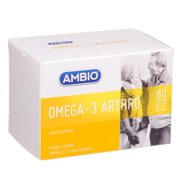 AMBIO OMEGA-3 SĄNARIAMS, 60 kapsulių paveikslėlis