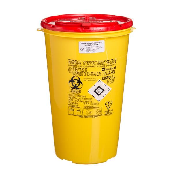 Konteineris aštrioms, pavojingoms atliekoms, 2 l paveikslėlis