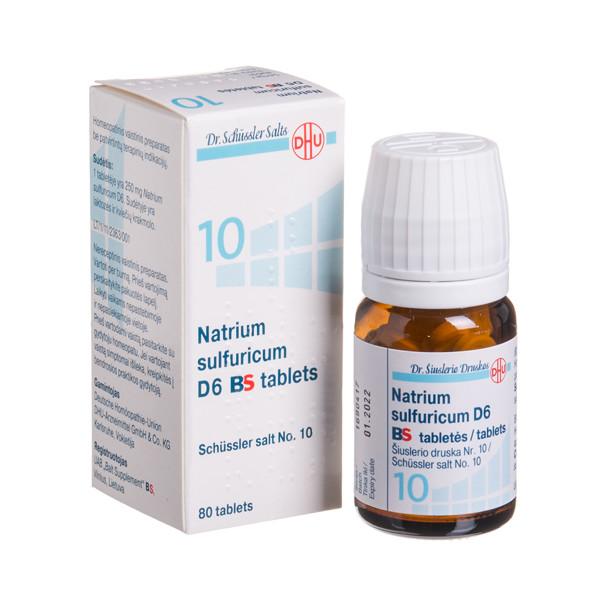 NATRIUM SULFURICUM D6 BS, Šiuslerio druska Nr. 10, tabletės, N80 paveikslėlis