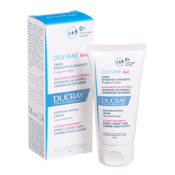 DUCRAY DEXYANE MED, raminamasis, atkuriamasis veido ir kūno odos kremas nuo atopinio, kontaktinio ir rankų lėtinio dermatito, 30 ml paveikslėlis