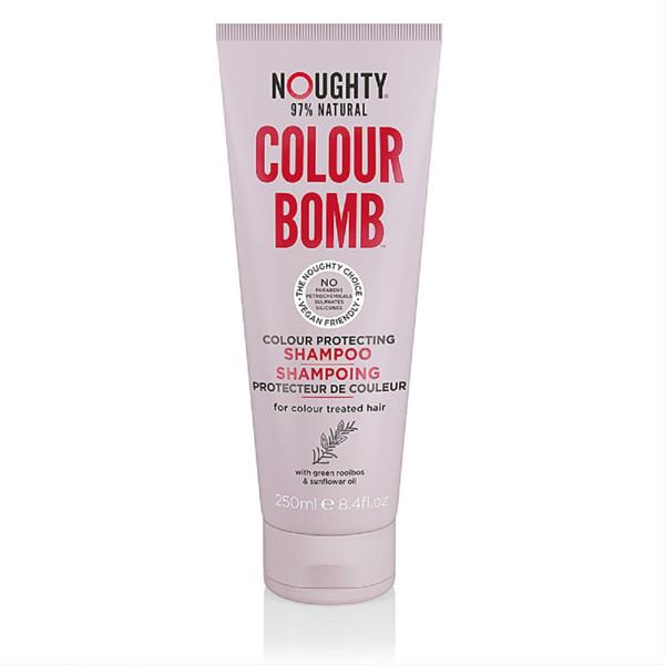 NOUGHTY COLOUR BOMB, dažytų plaukų spalvą apsaugantis šampūnas su žaliojo siauralapio raibsteglio ekstraktais ir saulėgrąžų aliejumi ir ekstraktais, 250 ml paveikslėlis