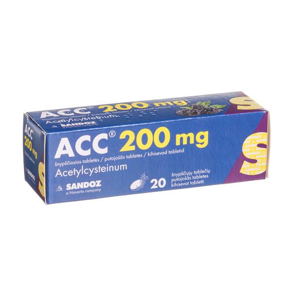 ACC, 200 mg, šnypščiosios tabletės, N20  paveikslėlis