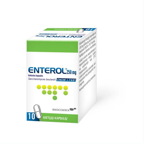 ENTEROL, 250 mg, kietosios kapsulės, N10  paveikslėlis