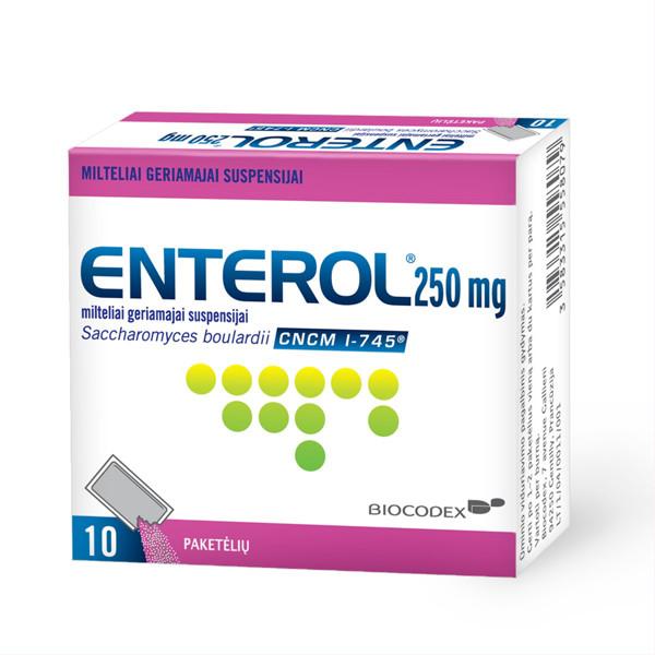 ENTEROL, 250 mg, milteliai geriamajai suspensijai, N10  paveikslėlis