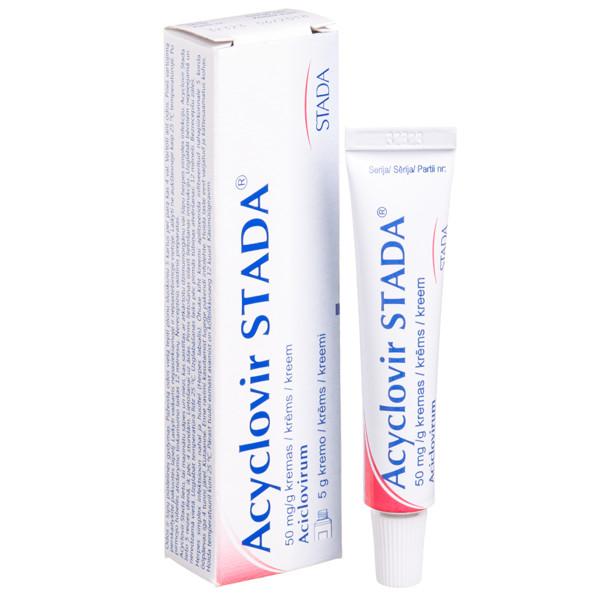 ACYCLOVIR STADA, 50 mg/g, kremas, 5 g  paveikslėlis