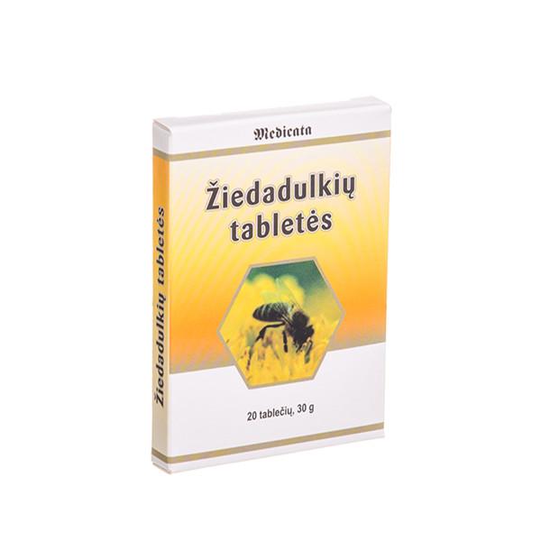 MEDICATA, žiedadulkių tabletės, 1,5 g, 20 tablečių paveikslėlis