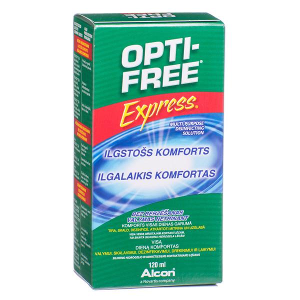 OPTI FREE EXPRESS, kontaktinių lęšių skystis, 120 ml paveikslėlis