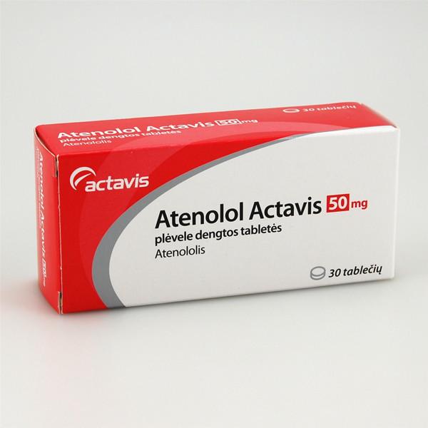 Atenolol Actavis 50mg tabletės N30