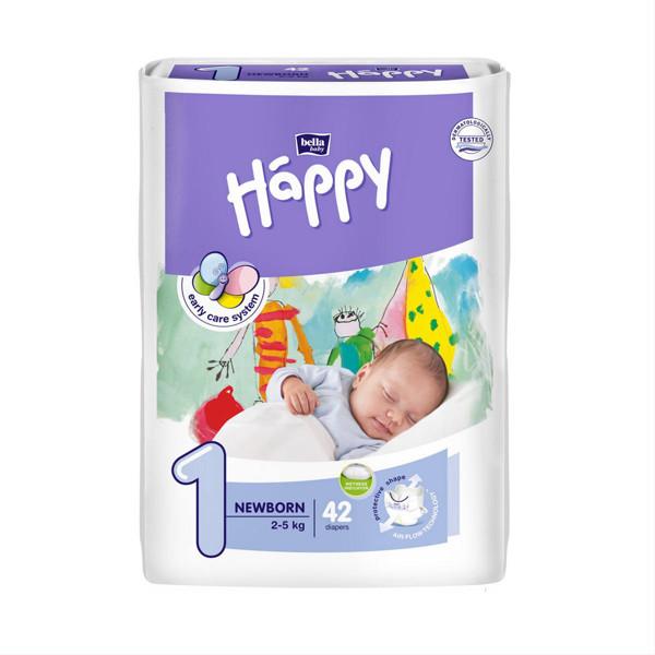 BELLA HAPPY NEWBORN, sauskelnės vaikams, 2 - 5 kg, 42 vnt. paveikslėlis