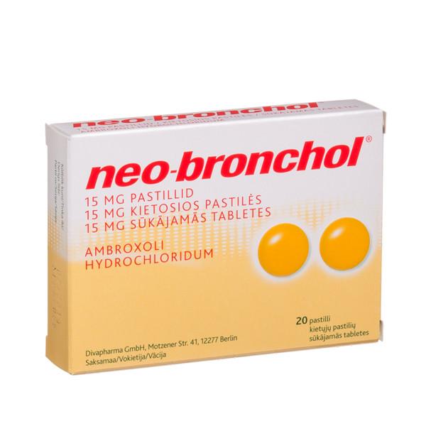 NEO-BRONCHOL, 15 mg, kietosios pastilės, N20  paveikslėlis