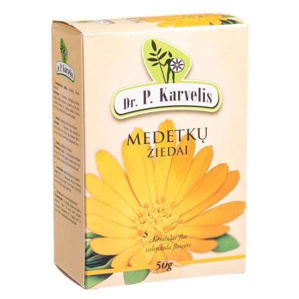 DR. P. KARVELIS MEDETKŲ ŽIEDAI, žolelių arbata, 50 g paveikslėlis