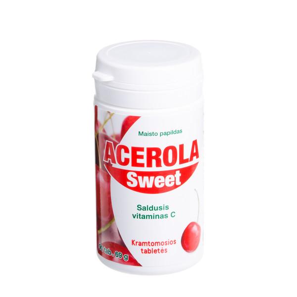 HANKINTATUKKU ACEROLA SWEET, 90 tablečių paveikslėlis