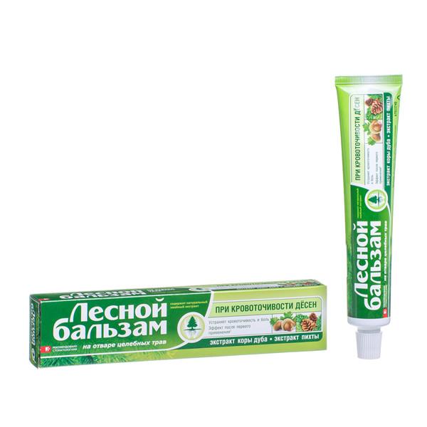 LESNOJ BALZAM, dantų pasta su ąžuolo žievės ir pušų ekstraktais, 75 ml paveikslėlis