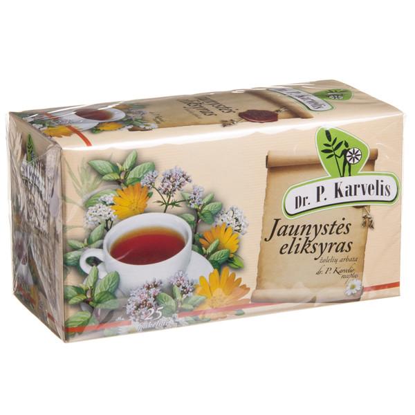 DR. P. KARVELIS JAUNYSTĖS ELIKSYRAS, žolelių arbata, 1 g, 25 vnt. paveikslėlis