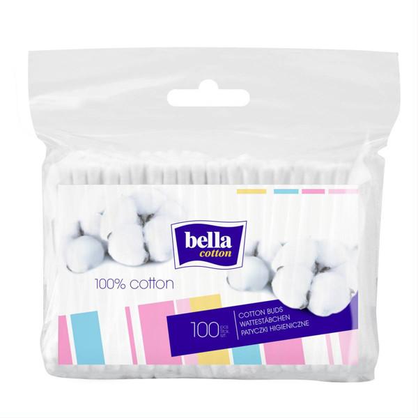 BELLA, higieniniai krapštukai polietileniniame įpakavime, 100 vnt. paveikslėlis