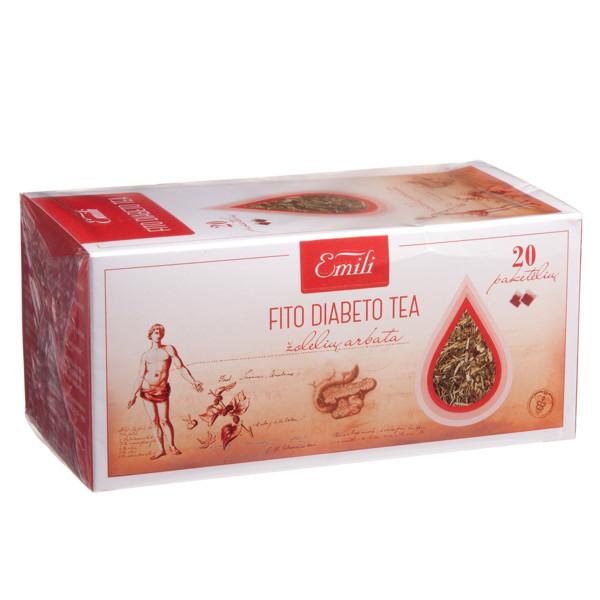 EMILI FITO DIABETO TEA, žolelių arbata, 1,5 g, 20 vnt. paveikslėlis