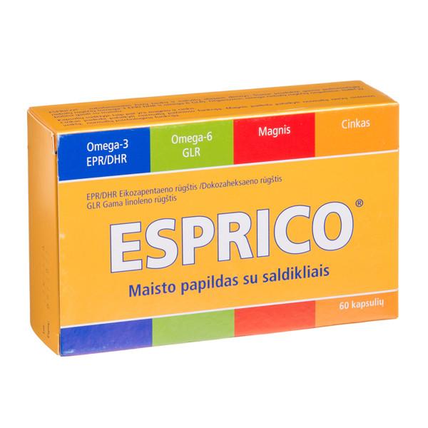 ESPRICO, 60 kramtomųjų kapsulių paveikslėlis