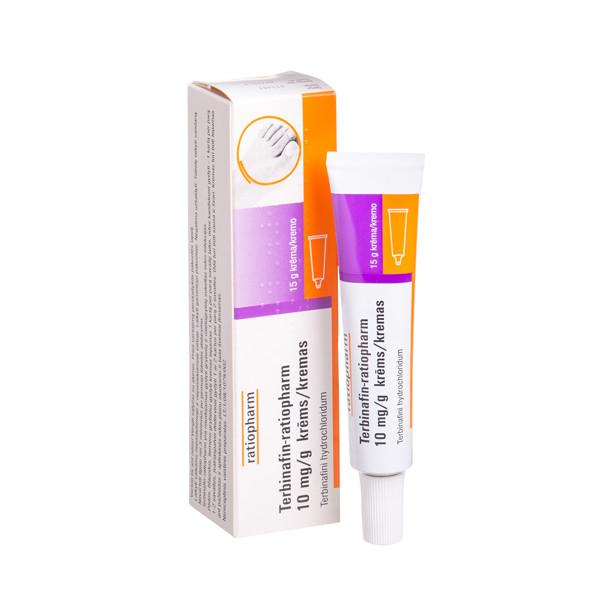 TERBINAFIN-RATIOPHARM, 10 mg/g, kremas, 15 g  paveikslėlis