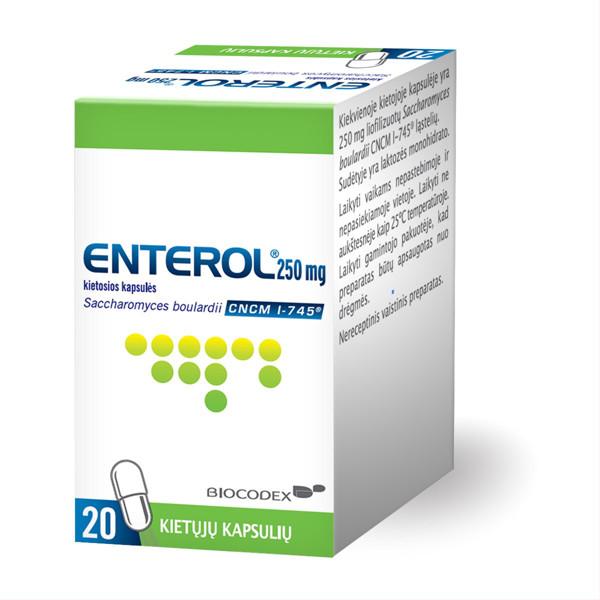 ENTEROL, 250 mg, kietosios kapsulės, N20 paveikslėlis
