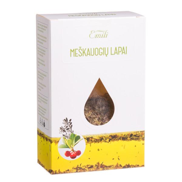 EMILI MEŠKAUOGIŲ LAPAI, žolelių arbata, 40 g  paveikslėlis